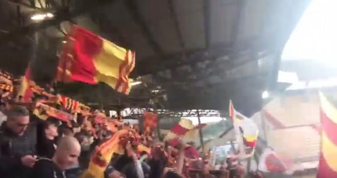 VIDEO - Sambenedettese-Lecce: Tifosi giallorossi a fine gara