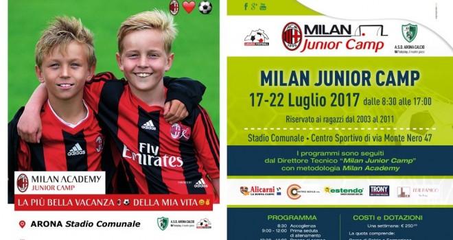 Ad Arona il camp dei ragazzi quest'anno sarà targato Milan