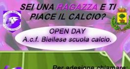 Domenica 14 l'open day della Biellese Femminile: tutte le info