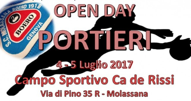 Il Molassana vara un Open Day riservato ai portieri: il 4 e 5 luglio