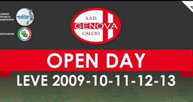 Ecco il calendario completo degli Open Day della Genova Calcio