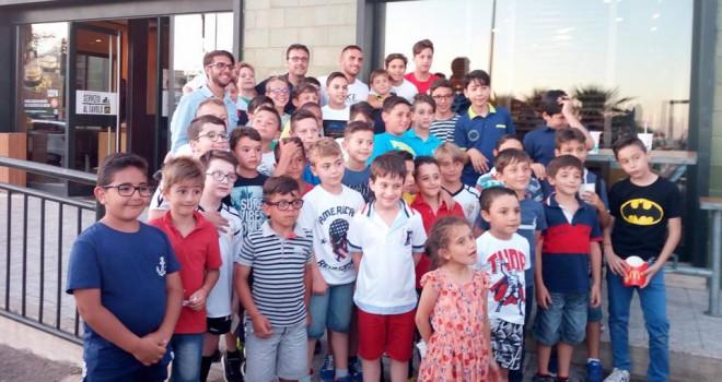 Ernesto Torregrossa incontra i ragazzini della Nissa