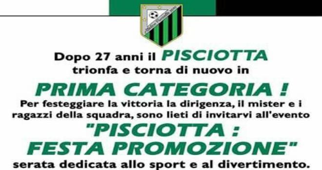 Atletico Pisciotta: domenica si festeggia la storica promozione