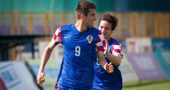 Dugandzic con la maglia della Croazia