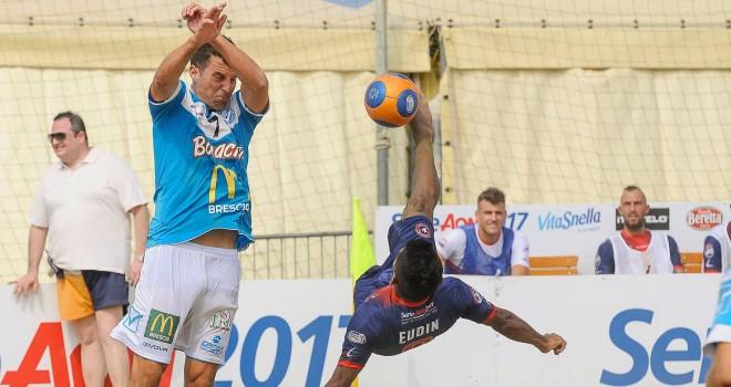 Serie A Beach Soccer, Brescia sconfitto 7-1 dall'Happy Car Samb