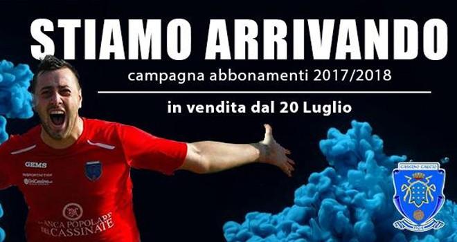 Cassino Calcio. Parte la campagna abbonamenti