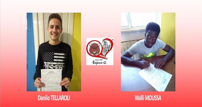 Bojano: Rinnovano i baby Moussa e Tellaroli