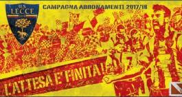 Lecce, abbonamenti: il dettaglio per settore alle 20.30 del 18/08/2017