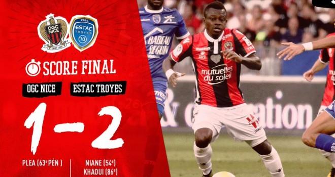 Nizza sconfitto in casa 2-1 dal Troyes: è il secondo K.O. di fila