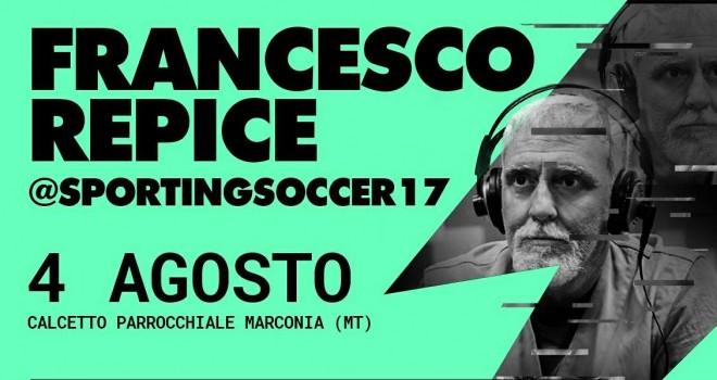 Sporting Soccer, a Marconia questa sera arriva Francesco Repice
