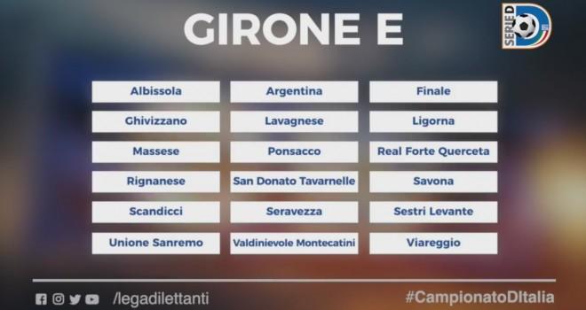 Serie D, ecco il girone delle squadre liguri