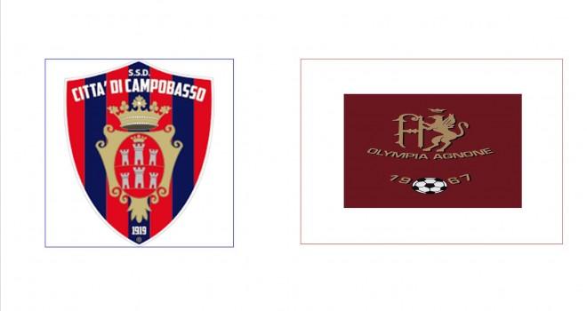 Serie D: Campobasso e Olympia Agnonese inserite nel girone F