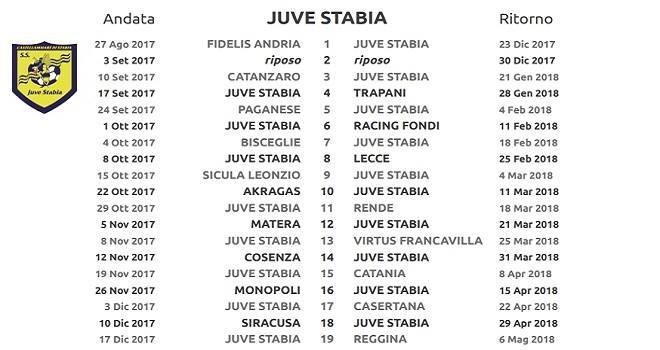 Calendario Juve Stabia.Juve Stabia Ecco Il Calendario Completo Prima In Casa Col