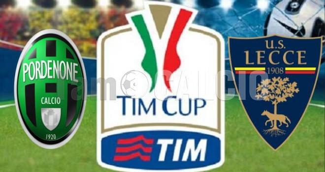 Pordenone-Lecce, Tim Cup