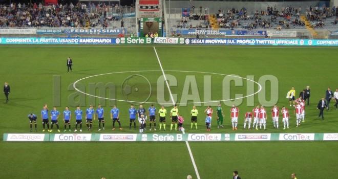 Novara-Parma 0-1, gli azzurri sbattono sulle traverse e restano a zero