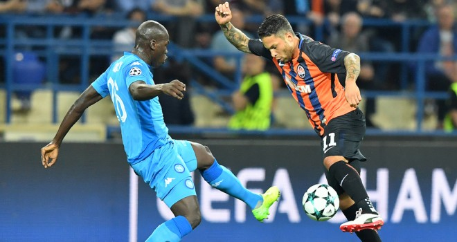Napoli, esordio amaro in Champions: Taison-Ferreyra gioia Shakhtar