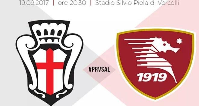 Pro Vercelli-Salernitana, formazioni ufficiali: chance per Alex