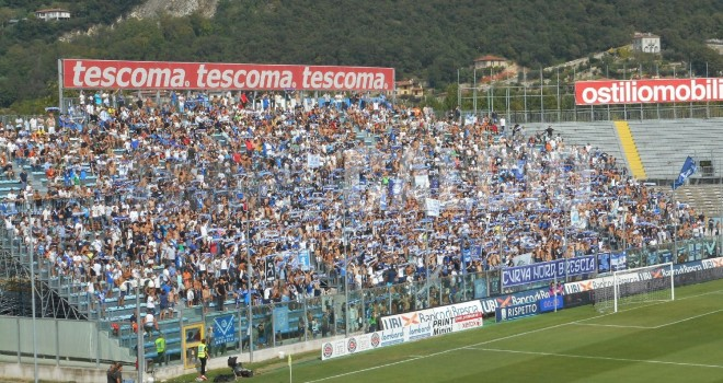 Brescia-Lecce: info biglietti ospiti. Solo tesserati