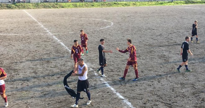 Le squadre al termine del match