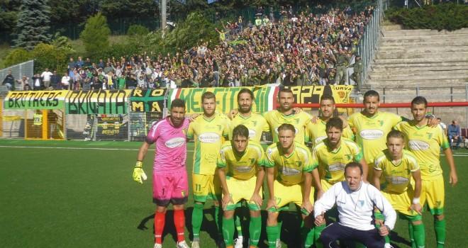 Il Melfi ieri a Rionero nel derby