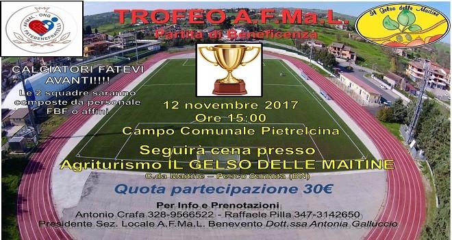 Il 12 novembre si terrà a Pietrelcina il Trofeo A.F.Ma.L. di calcio