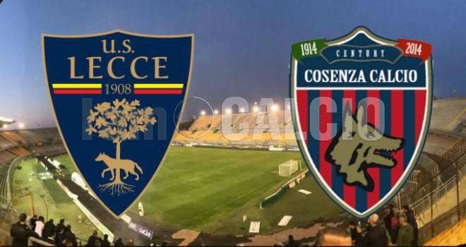 Lecce-Cosenza: le probabili formazioni della gara di Coppa Italia