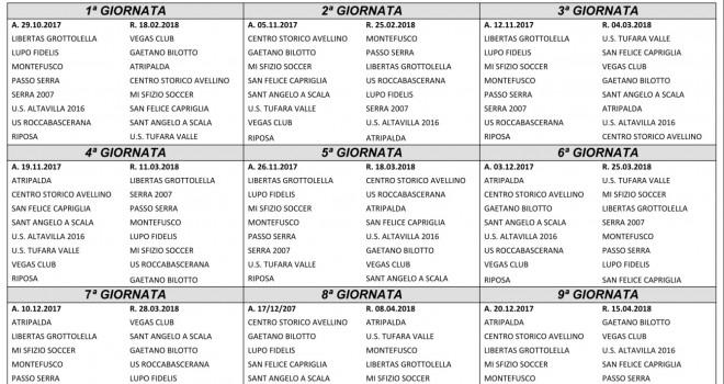 Calendario Terza Categoria.I Calendari Dei 4 Gironi Irpini Di Terza Categoria I Am