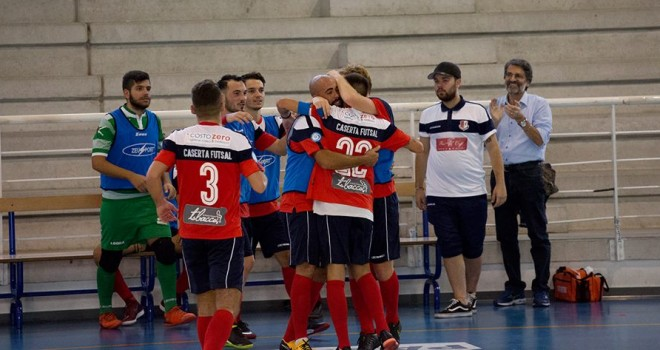 La festa del Caserta Futsal