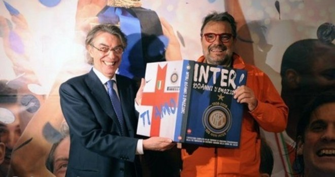 Oliviero Toscani con Massimo Moratti