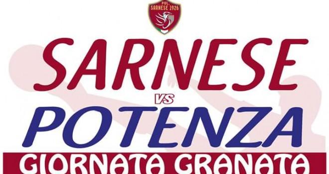 """La Sarnese sfida il Potenza. Si gioca alle 15, sarà """"Giornata Granata"""""""