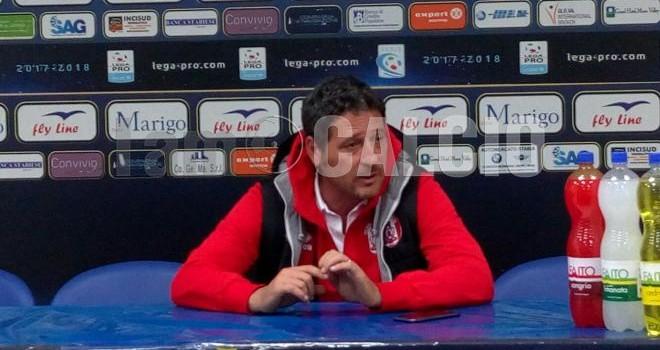"""Rende, Trocini: """"Con la Juve Stabia bisogna reagire forte"""""""