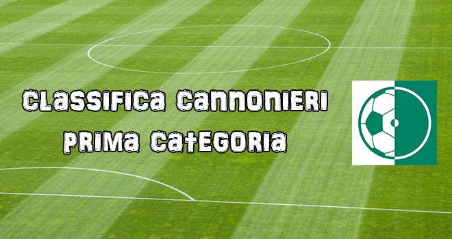 Prima Categoria: classifica cannonieri alla 6^A