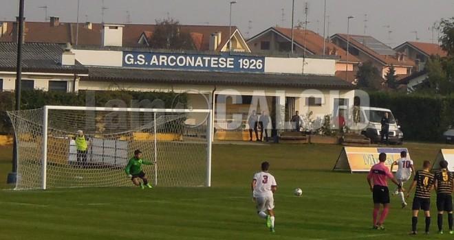 Arconatese-Borgosesia 1-2, la decide Procaccio al triplice fischio
