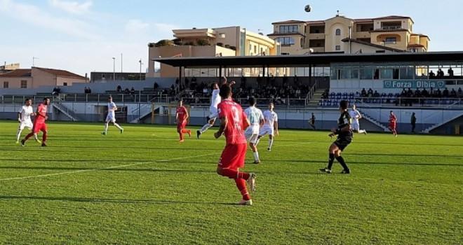 Olbia-Giana Ermino 3-0: il tabellino