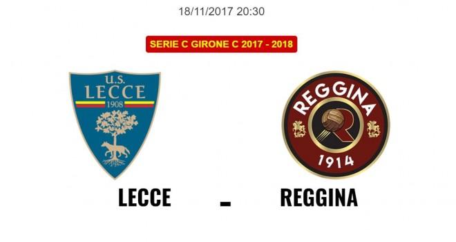 Lecce-Reggina: le formazioni ufficiali