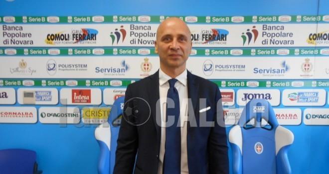 """Novara-Pro Vercelli, Corini: """"E' colpa mia, ci è mancato qualcosa"""""""