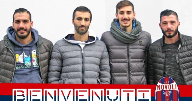 Novoli: ufficializzati quattro nuovi acquisti. Risoluzione con altri 8