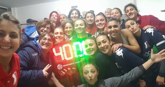 """Pink-Napoli 4-0, le biancorosse ancora una volta """"belle di notte"""""""