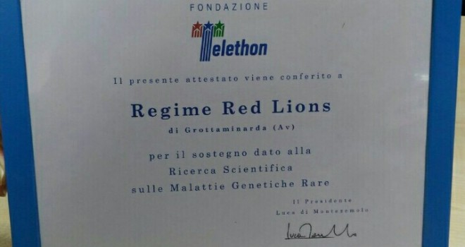Ultras per il sociale: consegnata una targa al RRL