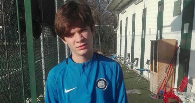 Marco Silvani con la divisa dell'Inter