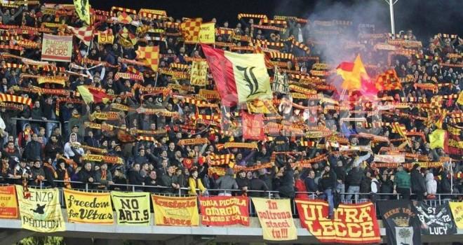 Lecce-Catania: biglietti venduti alle 21.00 del 18/01/2018