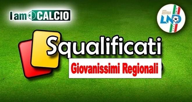Campionato Giovanissimi Regionale: le decisioni del Giudice Sportivo