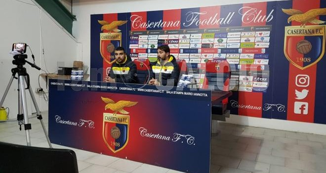VIDEO - Casertana-Rende: i due mister e Pinna in sala stampa
