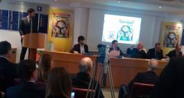 Presentato ieri a Milano l'album Panini nella sede della Lega Calcio