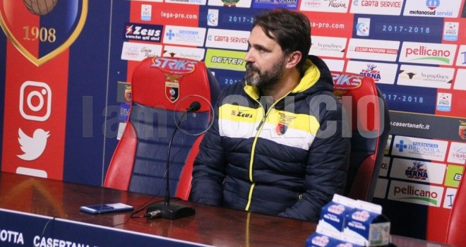 "VIDEO - Casertana. D'Angelo: ""Con il Lecce per fare la nostra partita"""