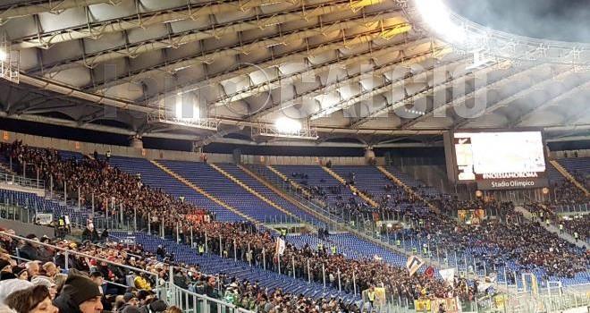 I tifosi del Benevento all'Olimpico