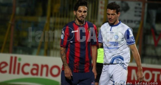 Casertana-Cosenza 1-0: decide Alfageme, falchetti un tempo in 10
