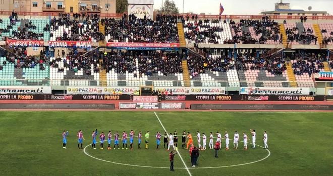 Catania-Cosenza 2-2, Barisic e Manneh rispondono a Mungo e Bruccini