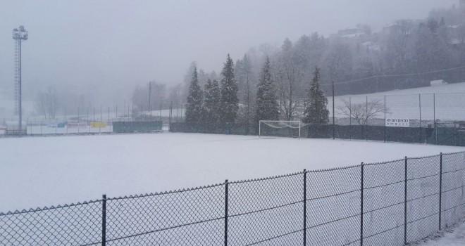 Il campo di Pavarolo questa mattina