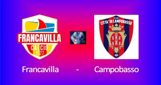 Francavilla-Campobasso: le formazioni ufficiali